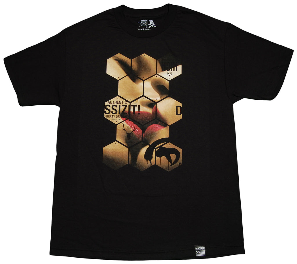 <!--2013030502-->Dissizit! - 'Honeycomb' [(Black) T-Shirt]