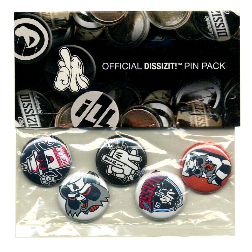 <!--020131126061236-->Dissizit! x 123Klan - '123 x DZT Pin Set (X 5)' [(Multi-Color) Pin]