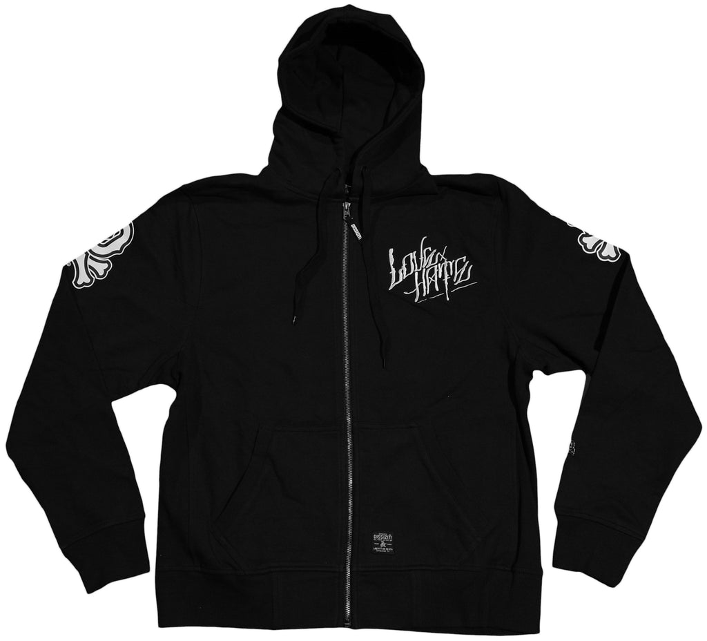 <!--2011083040-->Dissizit! - 'Love Hate' [(Black) Hooded Sweatshirt]