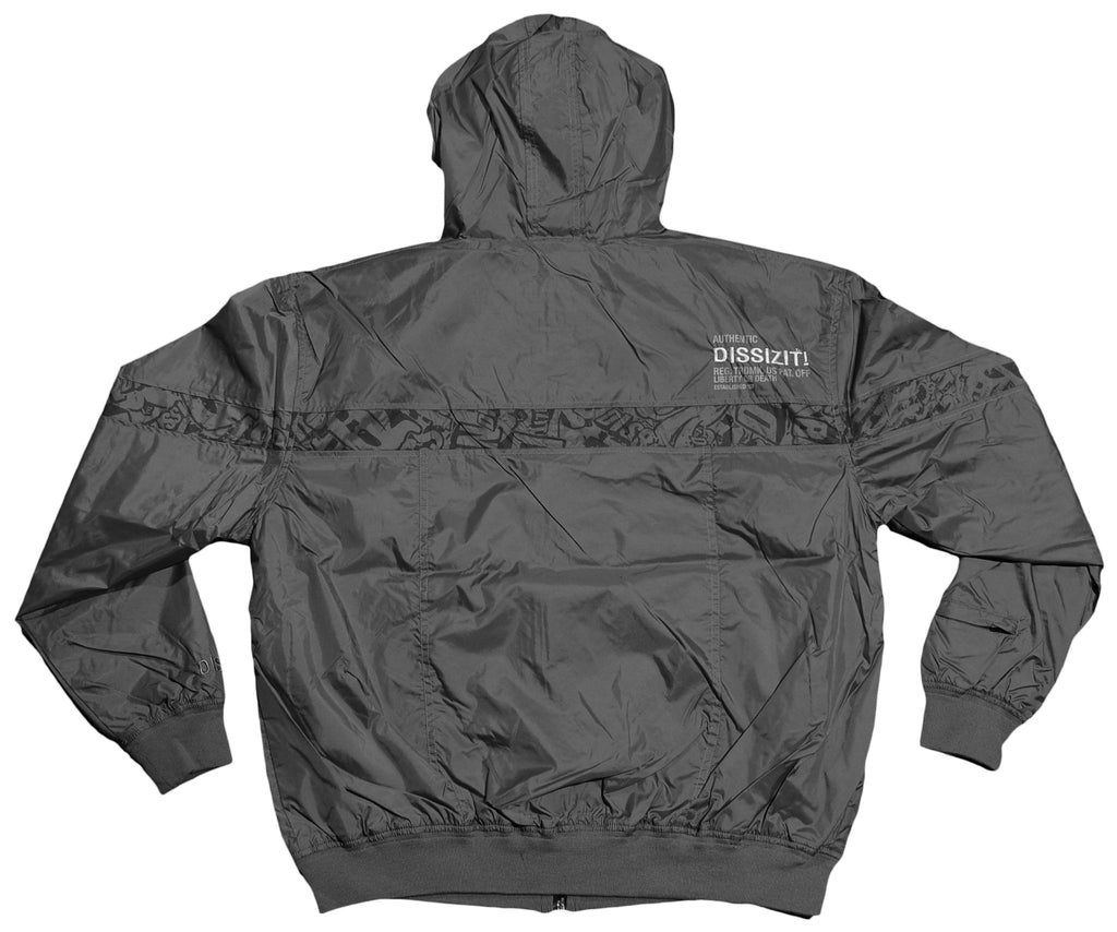<!--2012042451-->Dissizit! - 'Break Bones Windbreaker' [(Gray) Jacket]