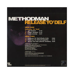 "Method Man - 'Release Yo' Delf/ Bring The Pain (Remix)' [(Black) 12"" Vinyl Single]"
