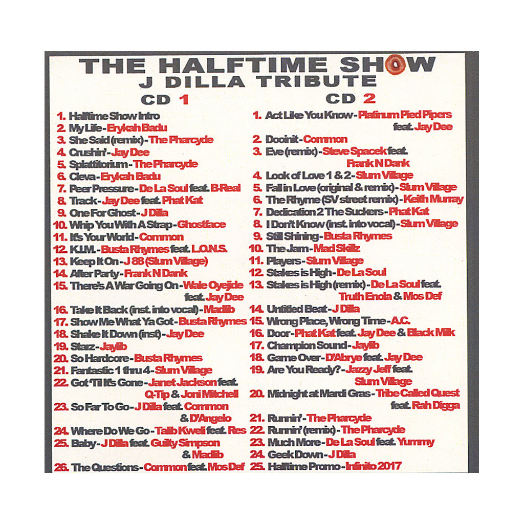 <!--020070508009643-->DJ Eclipse - 'The Halftime Show: 89.1 FM WNYU - 2/14/07: Donut District - A Tribute To Jay Dee Pt. I' [CD [2CD]]