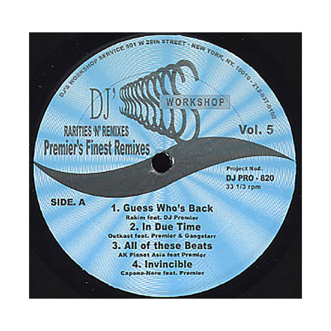 "[""DJ Premier (of Gang Starr) Presents - 'Premier's Finest Remixes' [(Black) Vinyl EP]""]"