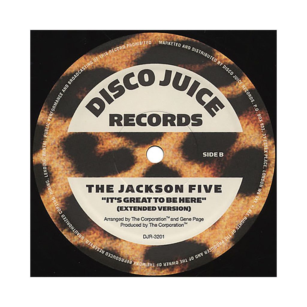 "Jackson 5 - 'It's Great To Be Here (Remix)/ It's Great To Be Here (Extended)' [(Black) 12"" Vinyl Single]"