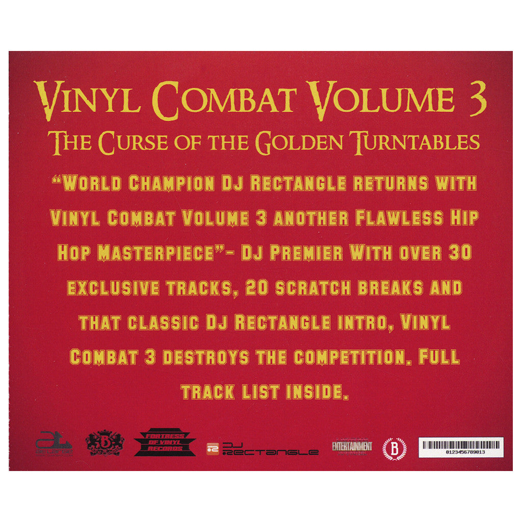 <!--120131113064539-->DJ Rectangle - 'Vinyl Combat Vol. 3: The Curse Of The Golden Turntables' [CD]