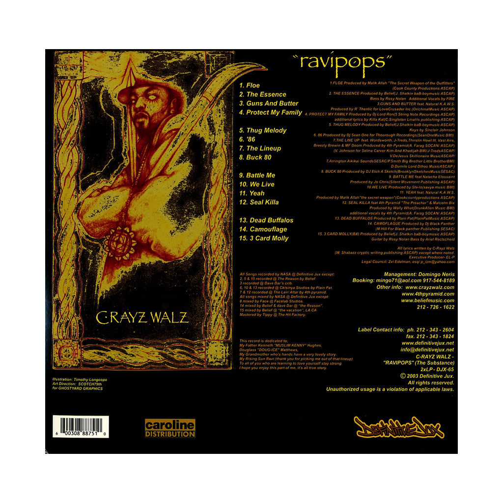 <!--020030729004112-->C-Rayz Walz - 'Ravipops (The Substance)' [(Black) Vinyl [2LP]]