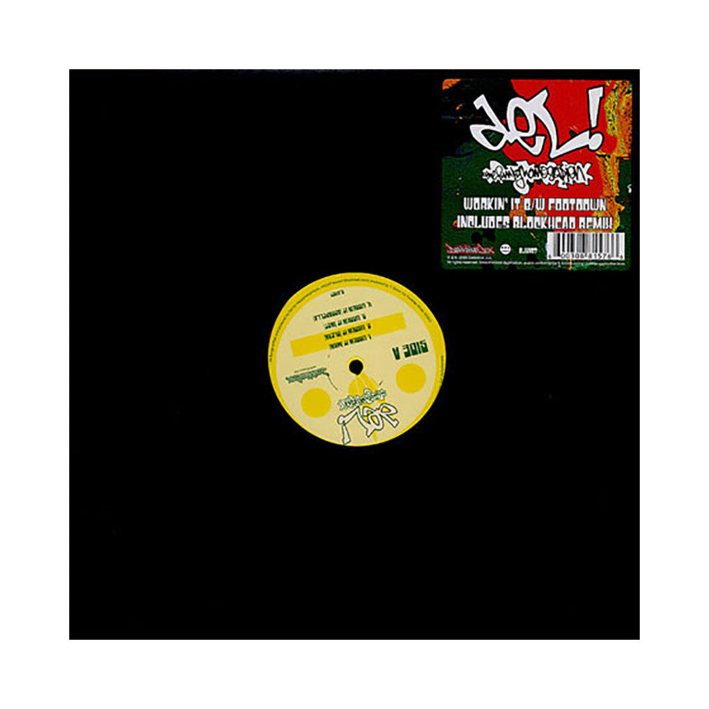 "<!--020080212013036-->Del The Funky Homosapien - 'Workin' It/ Foot Down/ Foot Down (Blockhead Remix)' [(Black) 12"" Vinyl Single]"