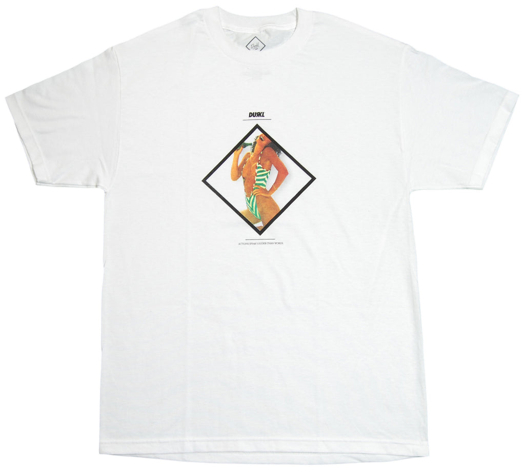 <!--2012062601-->Durkl - 'Actions Speak' [(White) T-Shirt]
