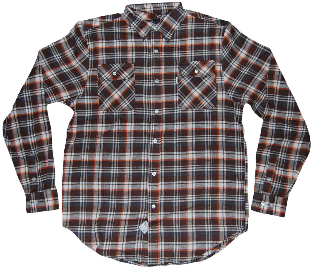 <!--2011110140-->Durkl - 'Perry Flannel' [(Light Brown) Button Down Shirt]
