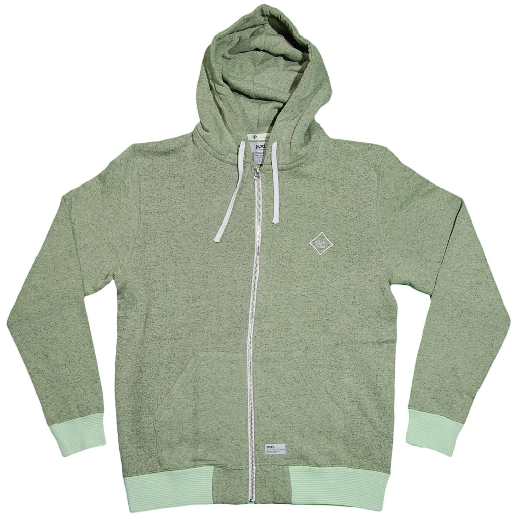 <!--2012022834-->Durkl - 'Monogram Heather' [(Light Green) Hooded Sweatshirt]