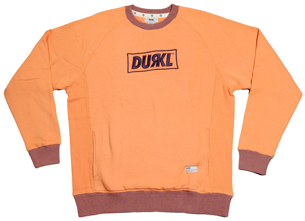 <!--2012060504-->Durkl - 'R Logo' [(Light Orange) Crewneck Sweatshirt]