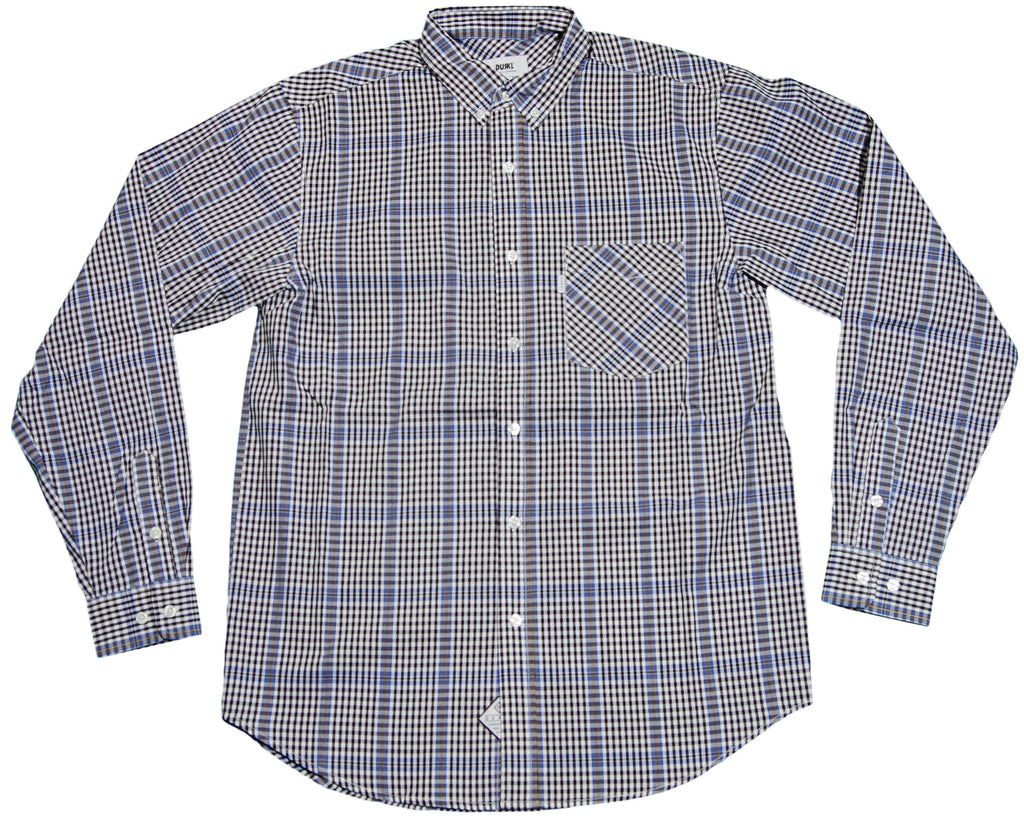 <!--2012022817-->Durkl - 'Bluepoint Plaid' [(Blue) Button Down Shirt]