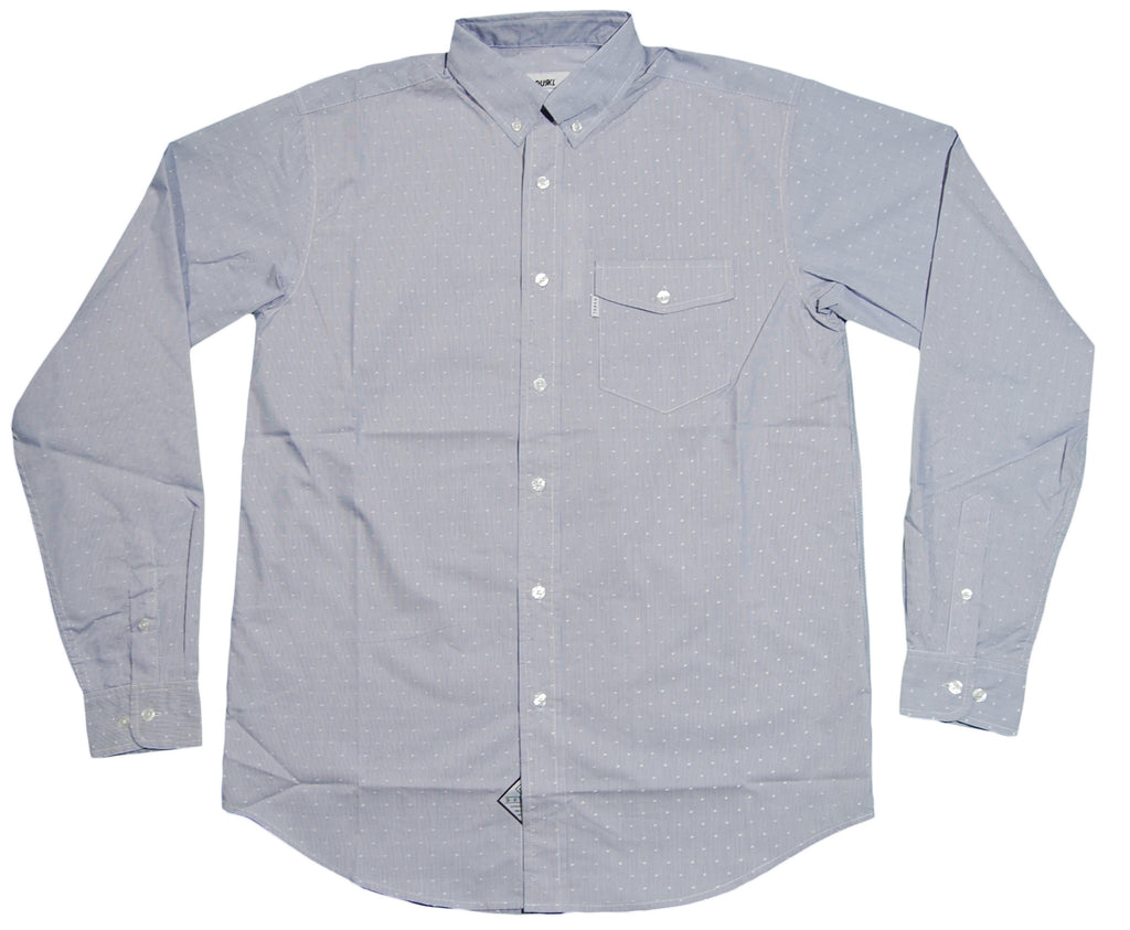 <!--2012100258-->Durkl - 'Osaka Polka Dot' [(Light Blue) Button Down Shirt]