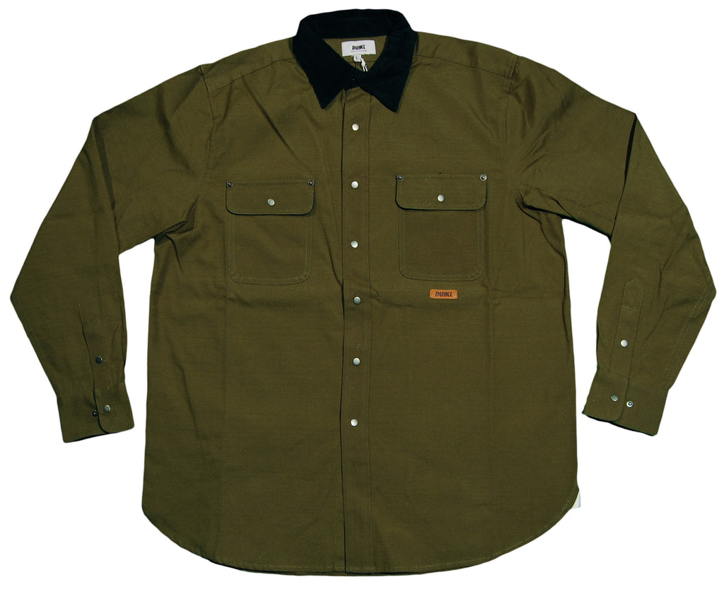 <!--2012100218-->Durkl - 'Ravia Work Shirt' [(Dark Green) Button Down Shirt]