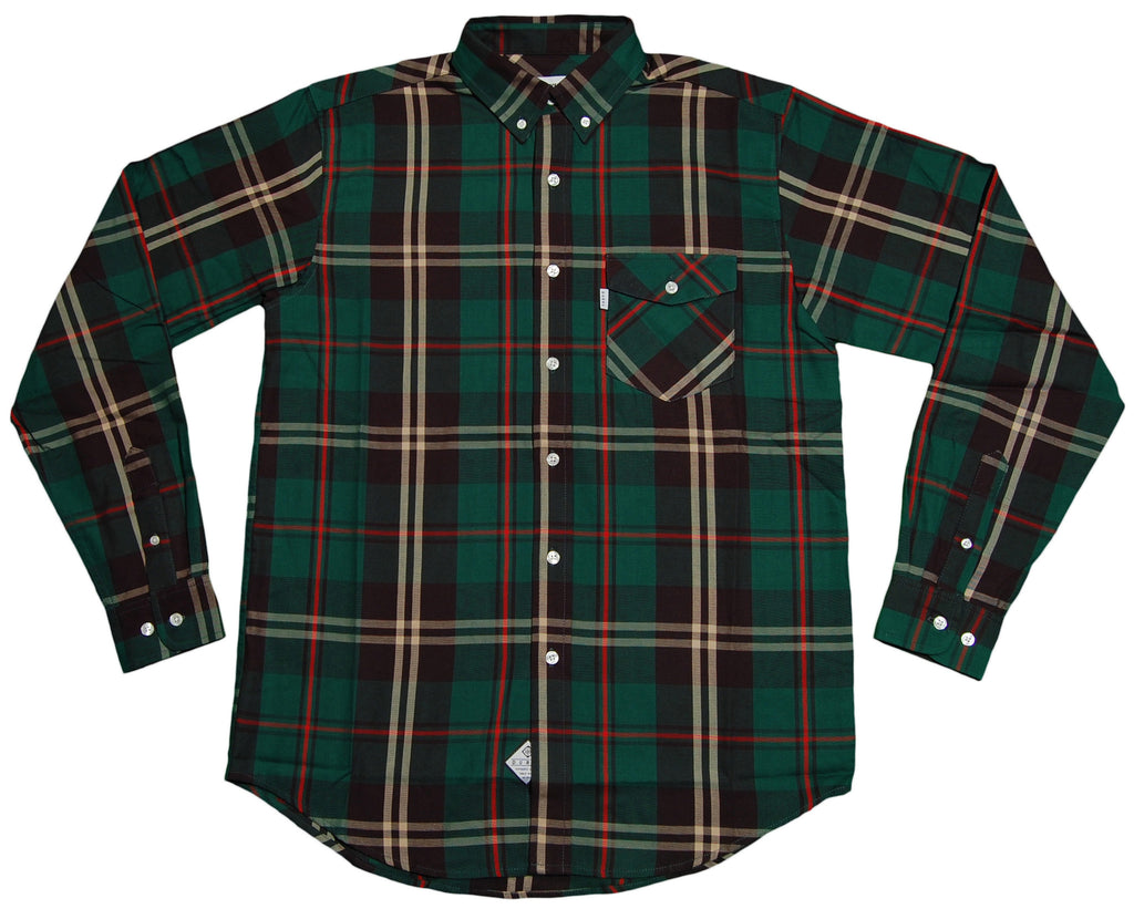 <!--2013020510-->Durkl - 'Wheaton' [(Green) Button Down Shirt]