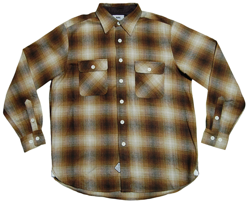 <!--2013020522-->Durkl - 'Mountain Flannel' [(Brown) Button Down Shirt]