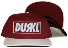 <!--2012032005-->Durkl - 'R Logo' [(Dark Red) Snap Back Hat]
