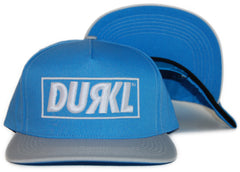 <!--020120320043286-->Durkl - 'R Logo' [(Light Blue) Snap Back Hat]