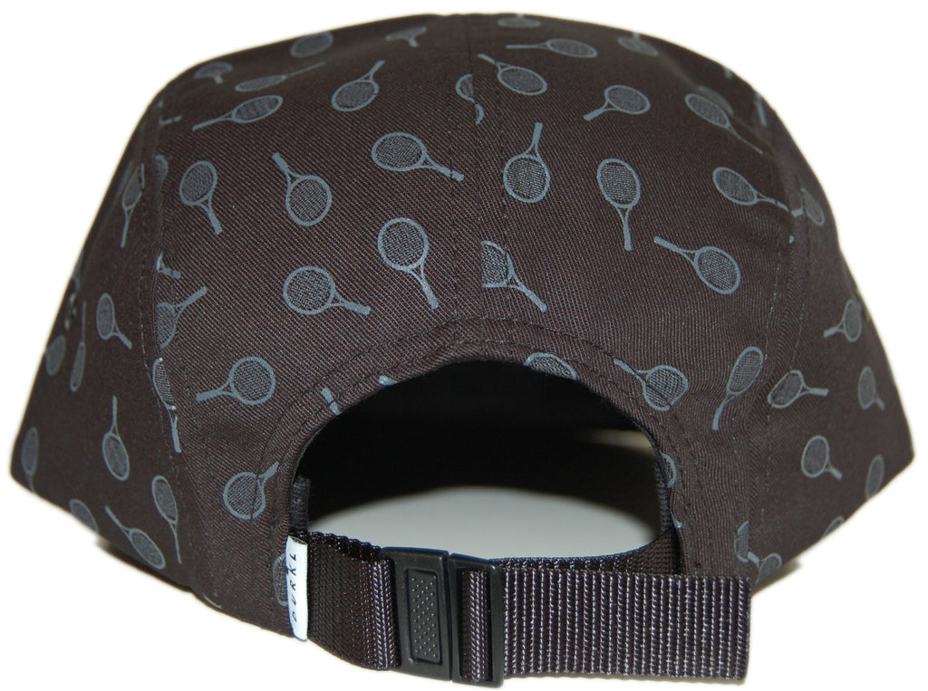 <!--020120626046490-->Durkl - 'Tennis' [(Black) Five Panel Camper Hat]