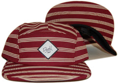 <!--020121113051842-->Durkl - 'Bradbury Striped' [(Dark Red) Five Panel Camper Hat]