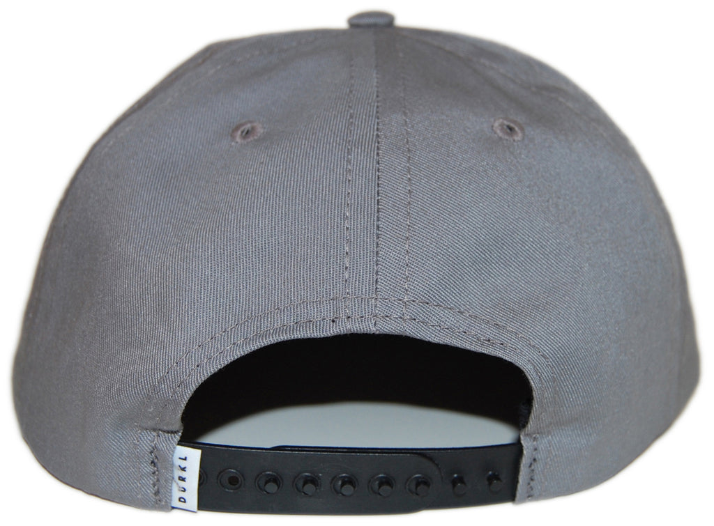 <!--020121204052419-->Durkl - 'Delmar - Gray/ Blue' [(Gray) Snap Back Hat]