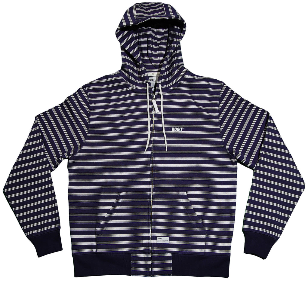 <!--2012120405-->Durkl - 'Bradbury Striped' [(Blue) Hooded Sweatshirt]