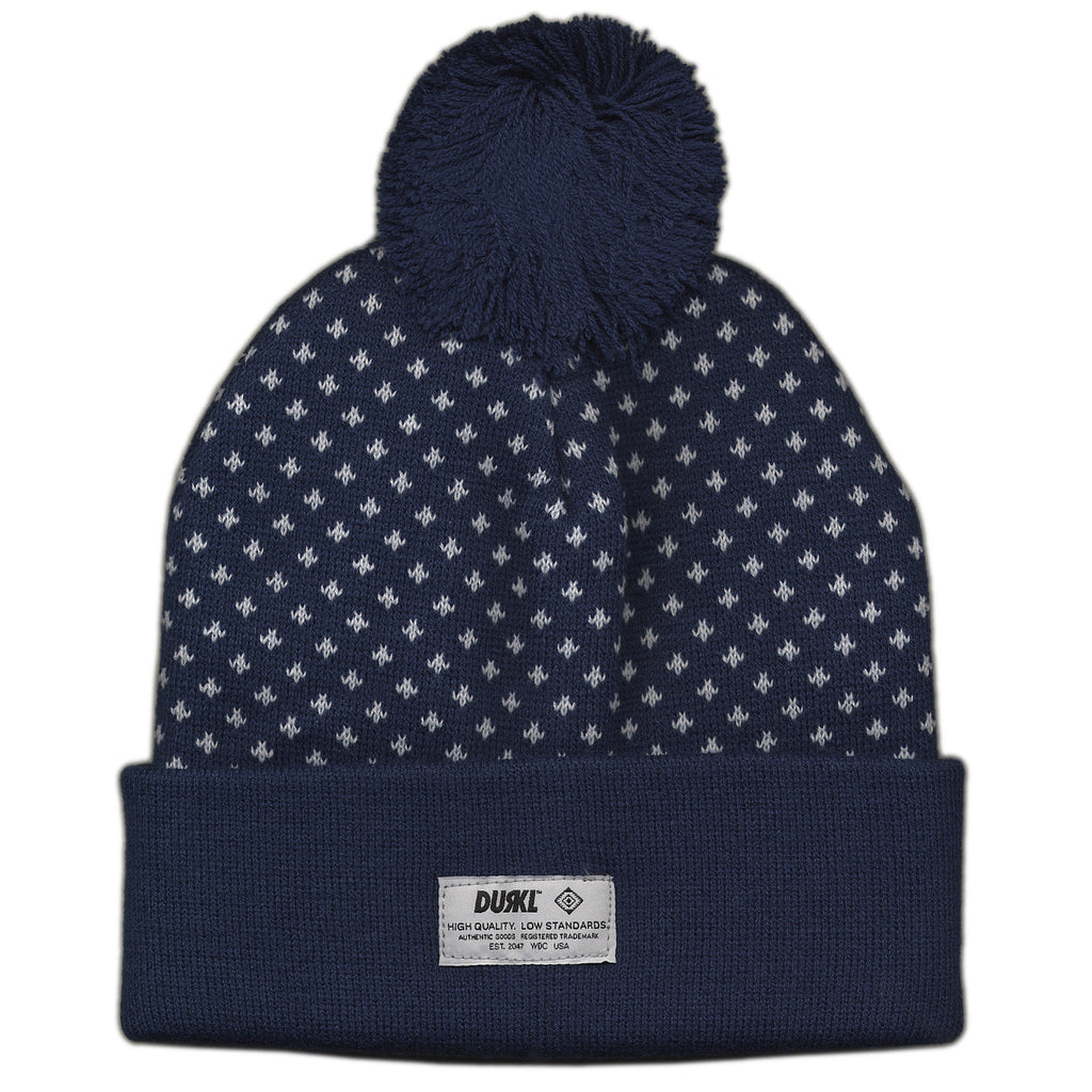 <!--020121002050136-->Durkl - 'Polka Dot Beanie' [(Dark Blue) Winter Beanie Hat]