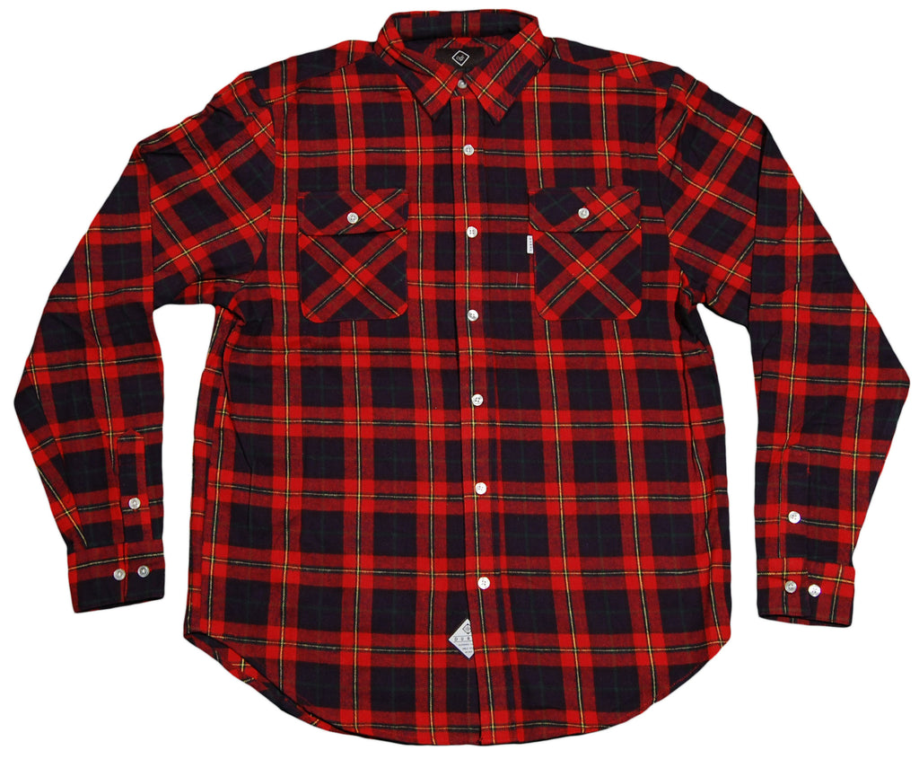 <!--2012011011-->Durkl - 'Dixon Flannel' [(Red) Button Down Shirt]