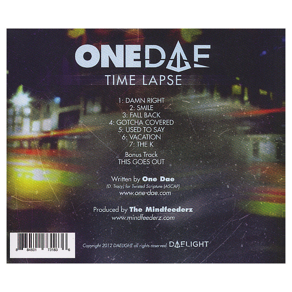 <!--120120529045608-->One Dae w/ The Mindfeederz - 'Time Lapse EP' [CD]