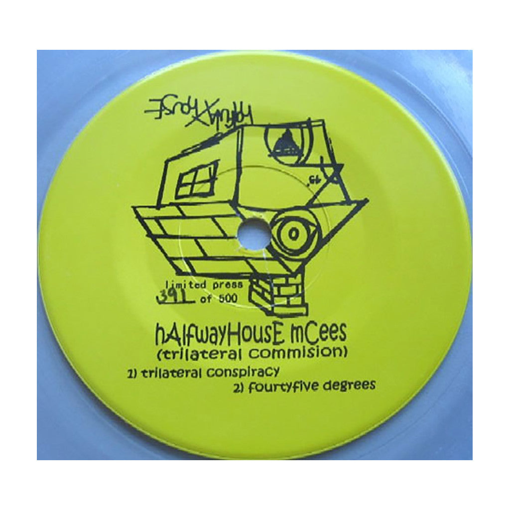"<!--020020101003199-->Halfwayhouse Mcees - 'Trilateral/ Fourtyfive Degrees' [(Black) 7"" Vinyl Single]"