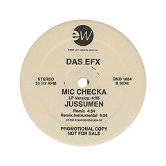 "Das EFX - 'Mic Checka (Remix)/ Mic Checka/ Jussumen (Remix)' [(Black) 12"" Vinyl Single]"