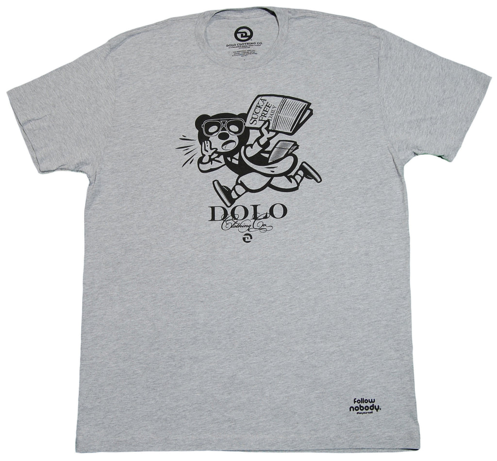 <!--2013022606-->Dolo Clothing - 'Daily News' [(Gray) T-Shirt]