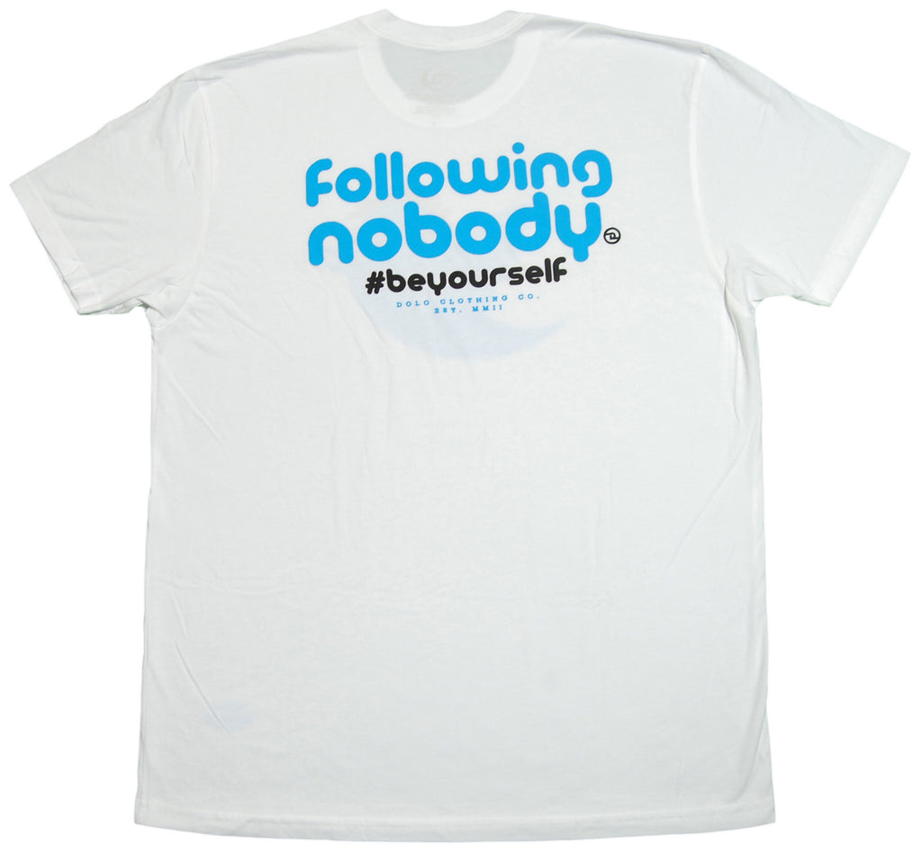 <!--2013022630-->Dolo Clothing - 'Following Nodody' [(White) T-Shirt]