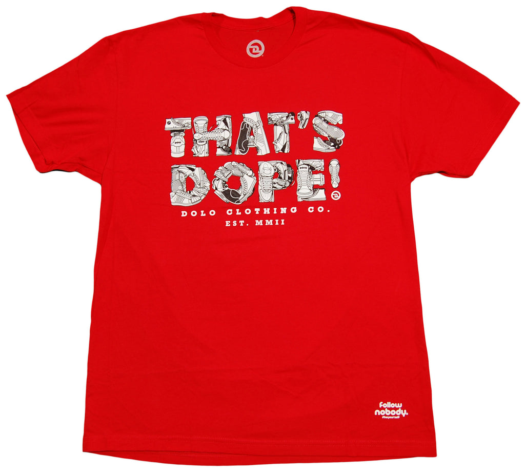 <!--2013022643-->Dolo Clothing - 'That's Dope!' [(Red) T-Shirt]
