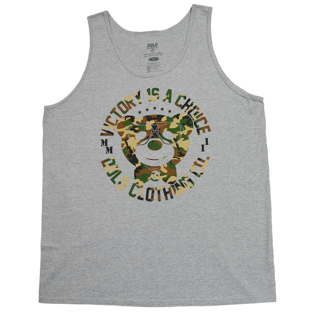 <!--2013073031-->Dolo Clothing - 'Victory Is A Choice' [(Gray) Tank Top]