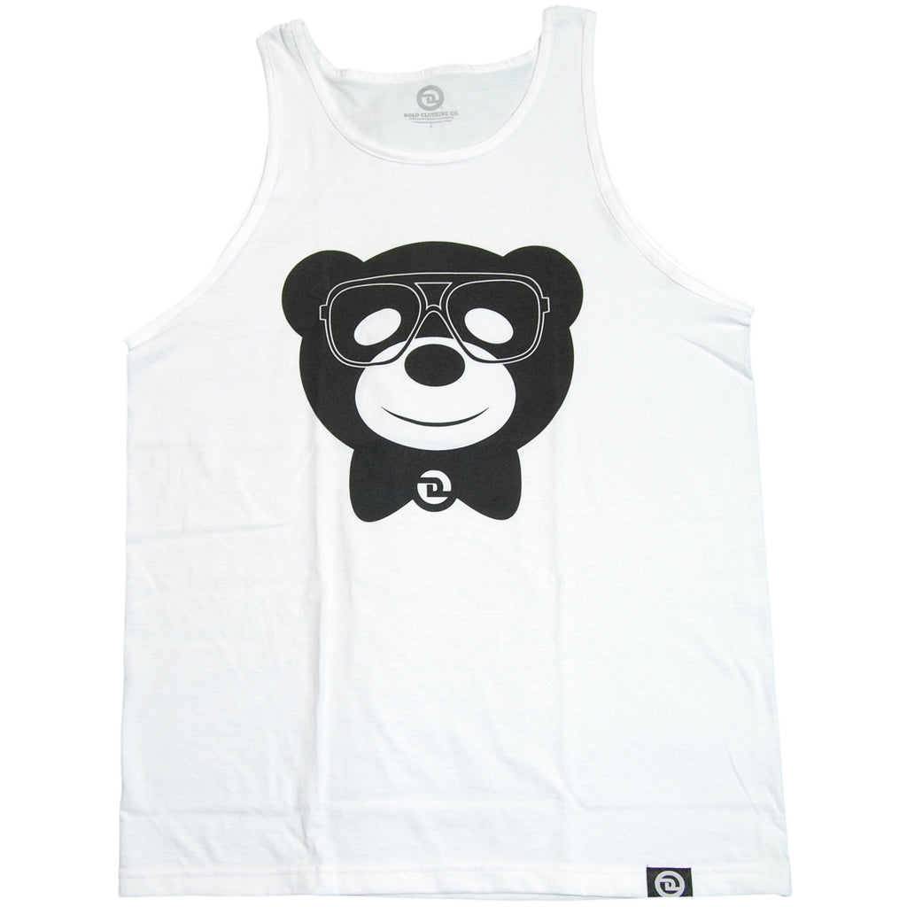 <!--2011061439-->Dolo Clothing - 'Dolo Bear' [(White) Tank Top]