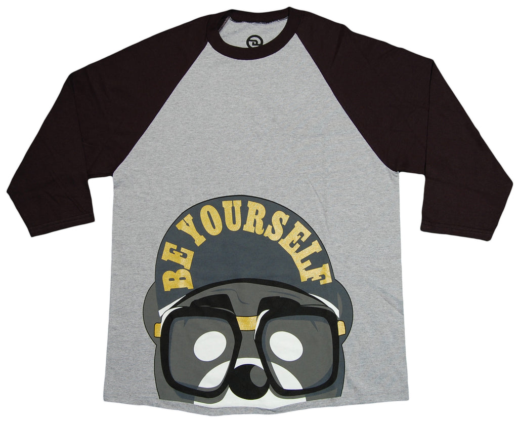 <!--2012101638-->Dolo Clothing - 'Be Yourself - Gray/ Black' [(Gray) T-Shirt]