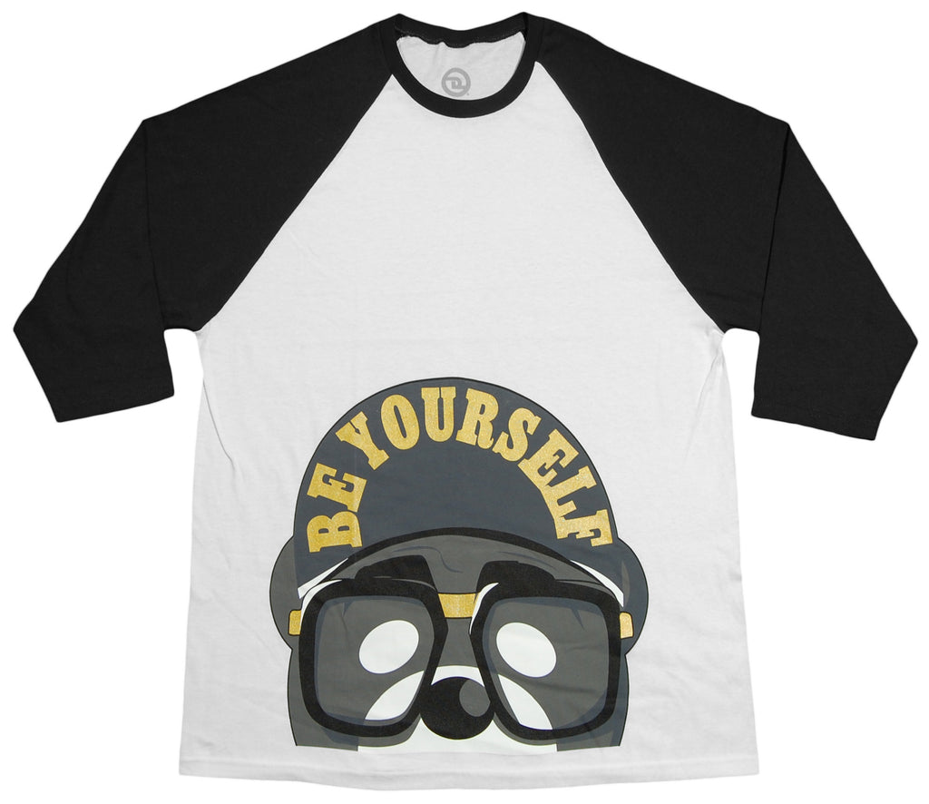 <!--2012101634-->Dolo Clothing - 'Be Yourself - White/ Black' [(White) T-Shirt]