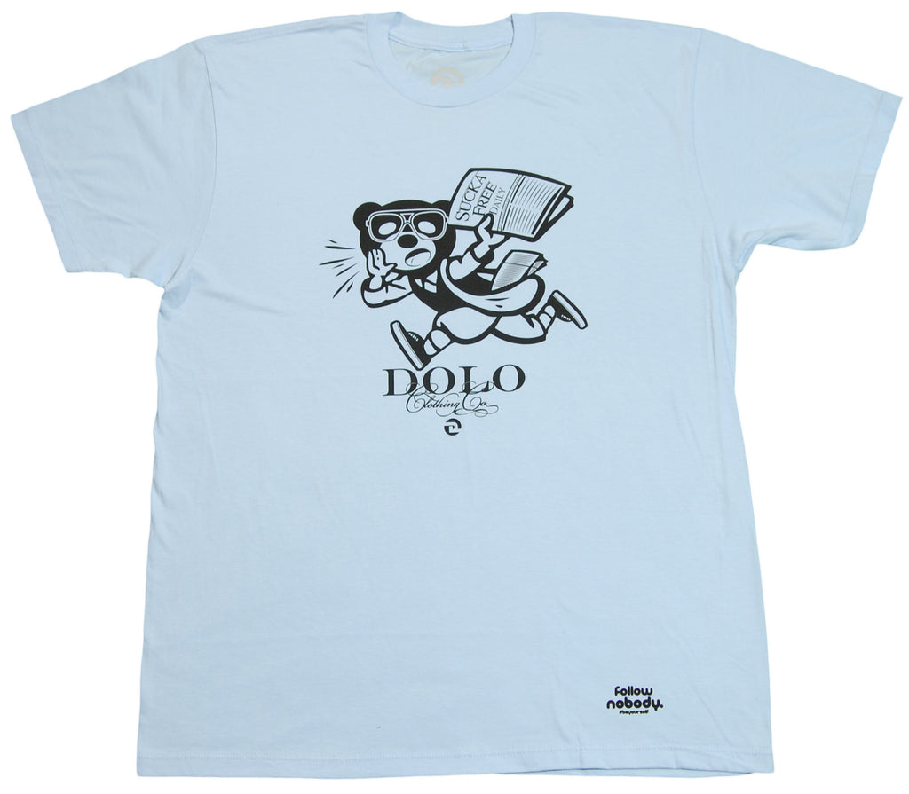 <!--2012050802-->Dolo Clothing - 'Daily News' [(Light Blue) T-Shirt]