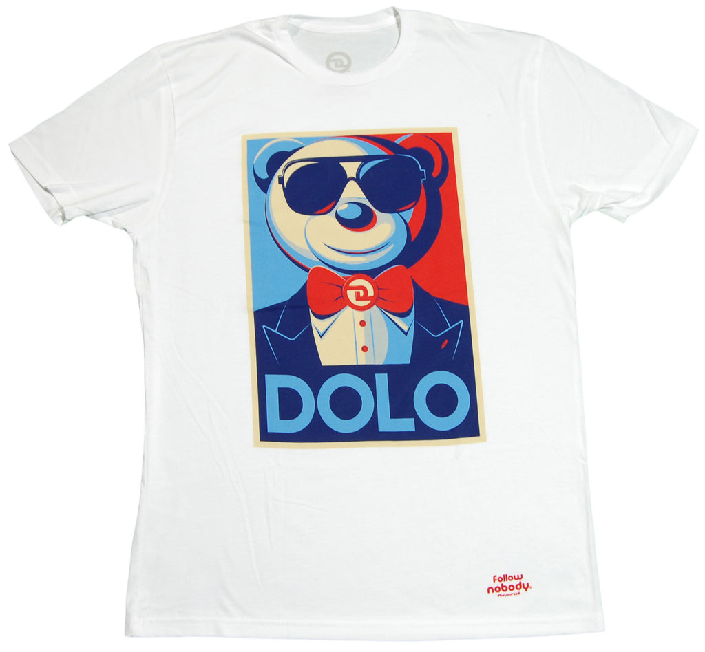 <!--2012050817-->Dolo Clothing - 'Dolo For President' [(White) T-Shirt]