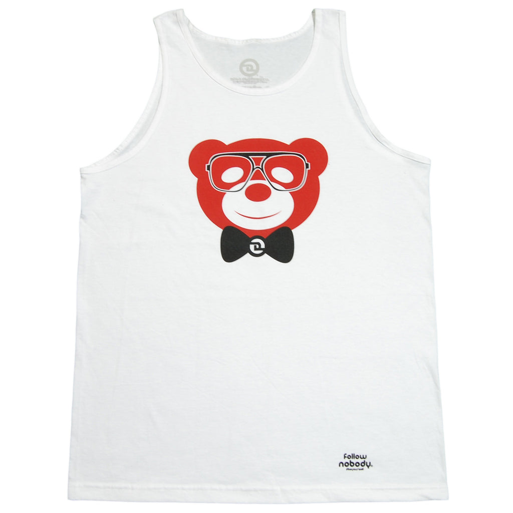 <!--2013041615-->Dolo Clothing - 'Harlem Bear' [(White) Tank Top]