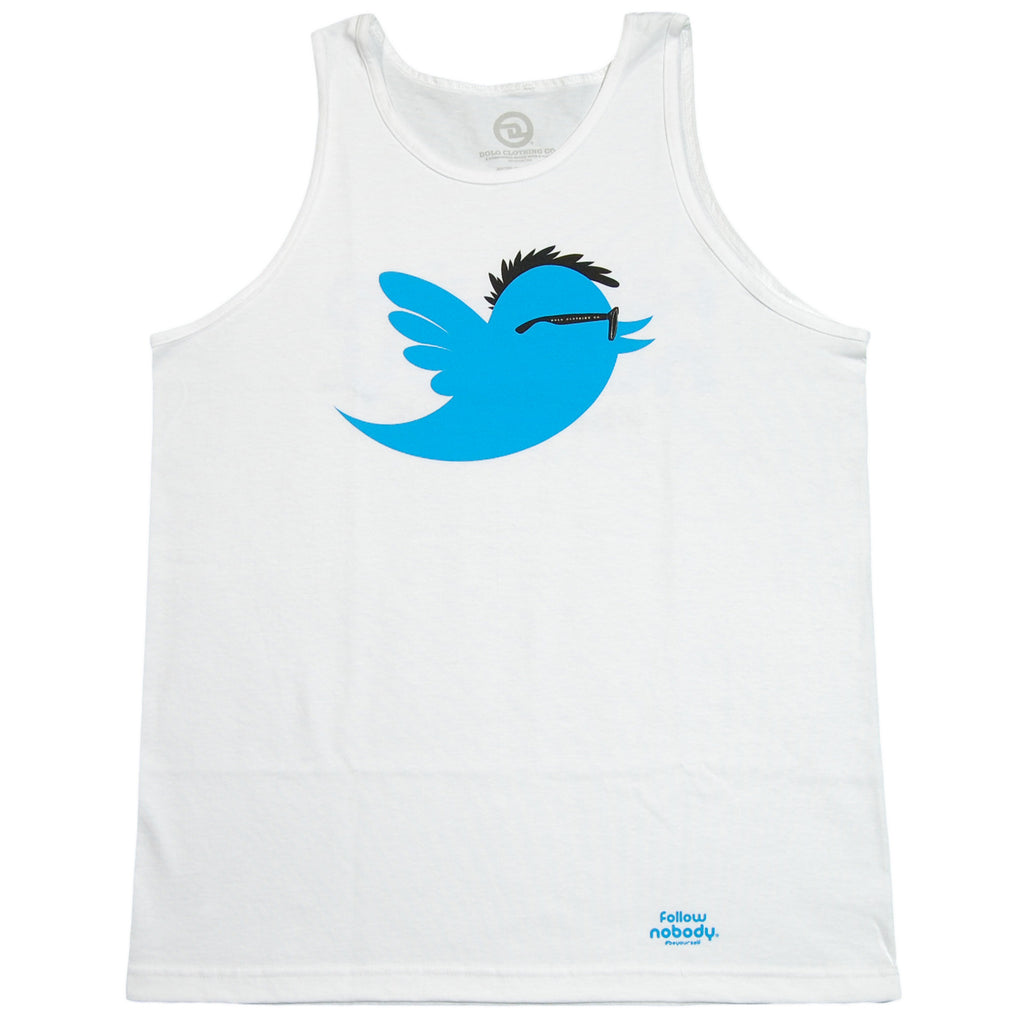 <!--2013041640-->Dolo Clothing - 'Following Nobody' [(White) Tank Top]