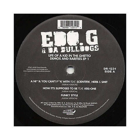 "EDO.G & Da Bulldogs - 'A Nigga You Can't Fuck With/ How It's Supposed To Be/ Funky Style/ A Brand New Style' [(Black) 12"" Vinyl Single]"