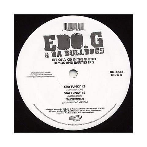 "EDO.G & Da Bulldogs - 'Stay Funky #2/ I'm Different/ You Got That/ I Got To Have It (Original Demo Version)' [(Black) 12"" Vinyl Single]"