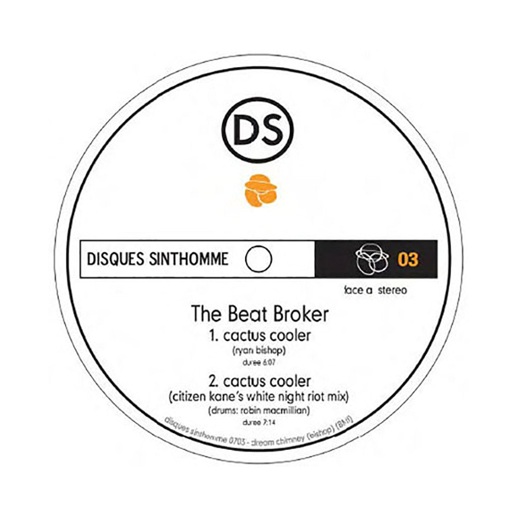 "Beat Broker b/w Lars Behrenroth - 'Cactus Cooler/ Cactus Cooler (Remix) b/w The Beach/ The Beach (Remix)' [(Black) 12"" Vinyl Single]"