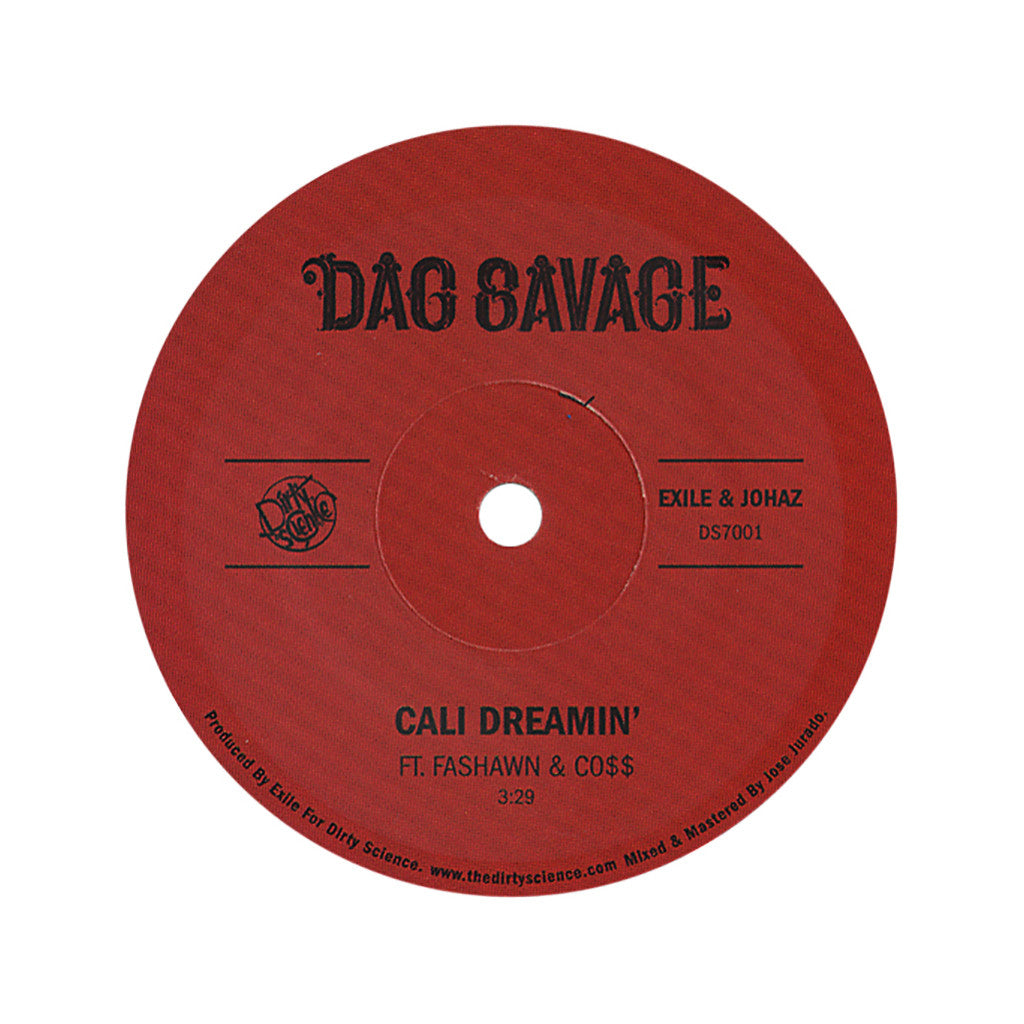 "<!--2012091837-->Dag Savage - 'Cali Dreamin'/ Mic Jackson' [(Black) 7"" Vinyl Single]"