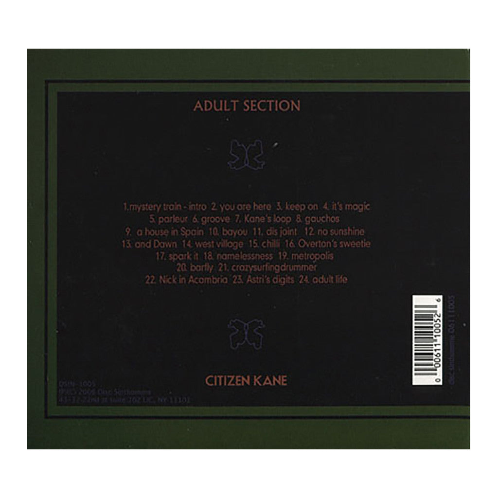 Citizen Kane - 'Adult Section' [CD]