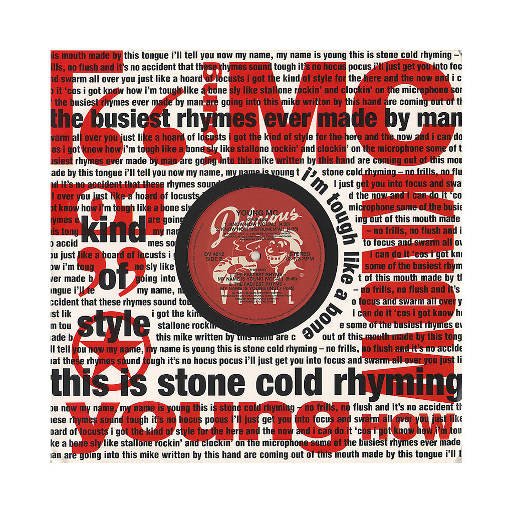 "<!--020060418007021-->Young MC - 'Know How/ The Fastest Rhyme - My Name Is Young' [(Black) 12"" Vinyl Single]"