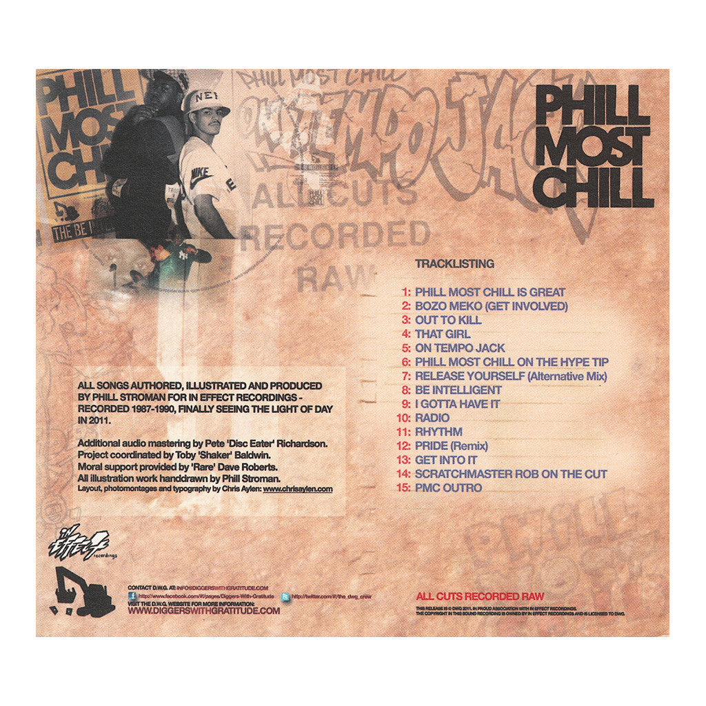 <!--020110628001722-->Phill Most Chill - 'All Cuts Recorded Raw' [CD]