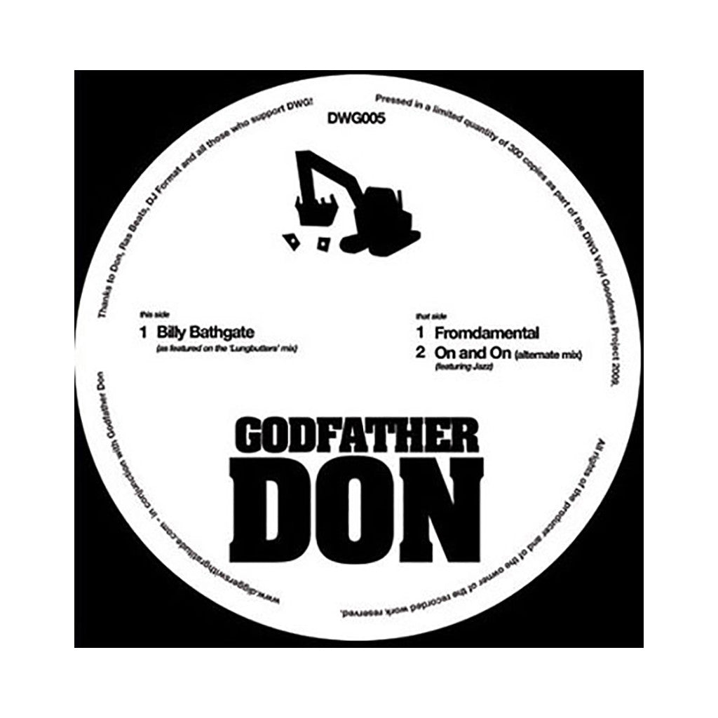 "<!--020090428016620-->Godfather Don - 'Billy Bathgate/ Fromdamental/ On And On' [(Black) 12"" Vinyl Single]"